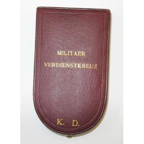 Österreich / K.u.K. Monarchie, Etui zum Militärverdienstkreuz III. Klasse  mit KD