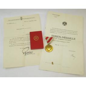 Österreich Bundesstaat, Medaille für 40 Jahre treue Dienste