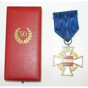 Treudienst Ehrenzeichen für 50 Jahre im Etui von Deschler & Sohn München