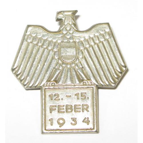 Blechabzeichen, 12. - 15. FEBER 1934