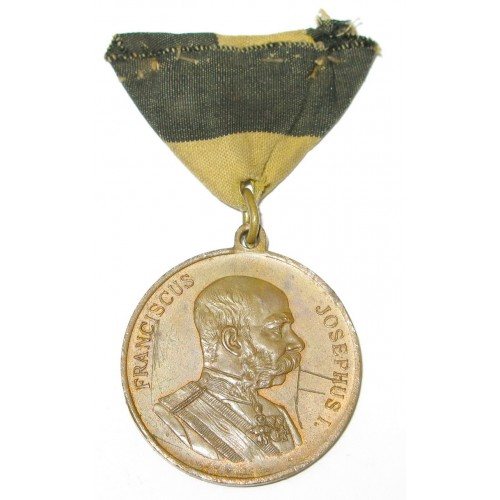 Medaille zur Erinnerung an das Kaisermanöver bei Romeno 1905