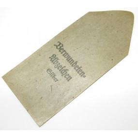 Verleihungstüte zum Verwundetenabzeichen in Silber Hauptmünzamt Wien