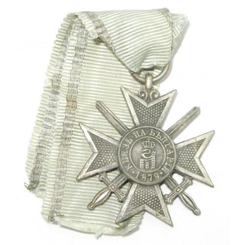 Bulgarien 1. Weltkrieg Silbernes Verdienstkreuz mit Schwertern 1915