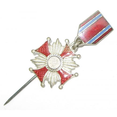 Polen, Silbernes Verdienstkreuz - Miniatur