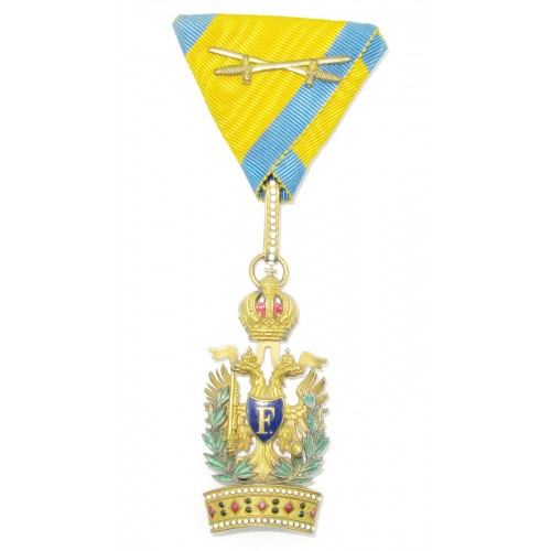 Kaiserlich österreichischer Orden der Eisernen Krone, 3. Klasse mit Kriegsdekoration