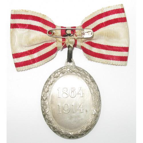 Silberne Ehrenmedaille vom Roten Kreuz mit KD im originalen Etui
