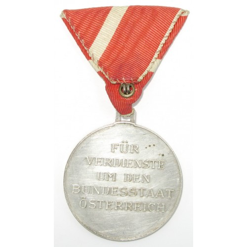 Österreich 1. Republik/Bundesstaat Medaille für Verdienste um den Bundesstaat Österreich
