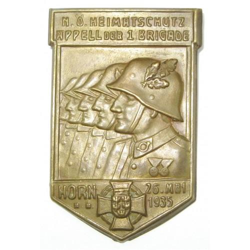 Heimatschutz Niederösterreich, Appell der 1. Brigade Horn 26. Mai 1935