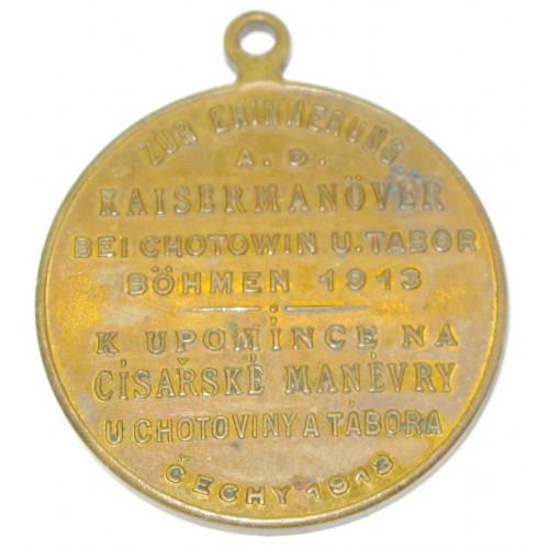Kaiser Franz Josef I. u. Franz Ferdinand, Kaisermanöver in Chotowin u. Tabor Böhmen 1913