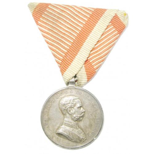 Kaiser Franz Josef I., Silberne Tapferkeitsmedaille 2. Klasse