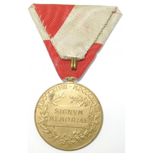 Jubiläumsmedaille für Zivilstaatsbedienstete 1898