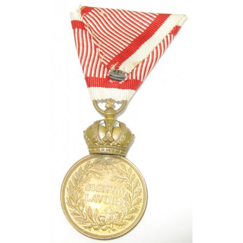 k.u.k. Monarchie, Bronzene Militärverdienstmedaille Signum Laudis FJI. im Etui