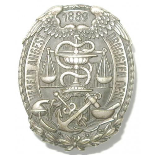 Mitgliedsabzeichen, Verein angestellter Drogisten Österreichs 1889