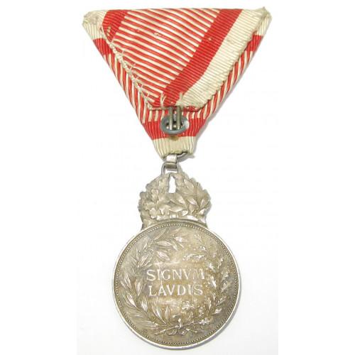 Kaiser Karl Silberne Militärverdienstmedaille Signum Laudis