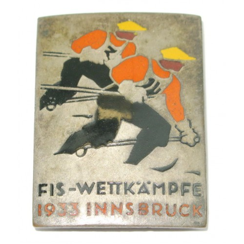Offizielles Teilnehmerabzeichen der FIS-Wettkämpfe 1933 in Innsbruck