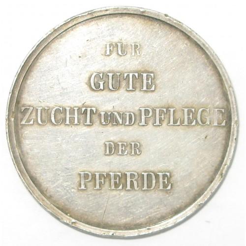 Kaiser Franz Josef I. Pferdezucht Medaille