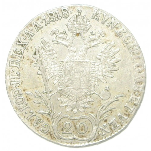 Kaiser Franz II./I. 20 Kreuzer 1818 V