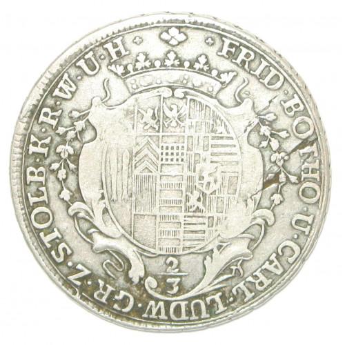 Stolberg 2/3 Taler 1764 C Friedrich Botho und Karl Ludwig 1761-1768