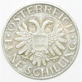 ÖSTERREICH 5 SCHILLING 1934