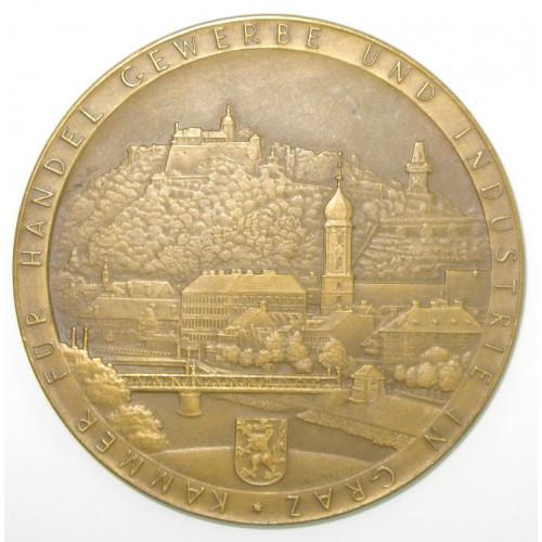 Ehrenmedaille der Kammer für Handel, Gewerbe und Industrie in Graz 1936
