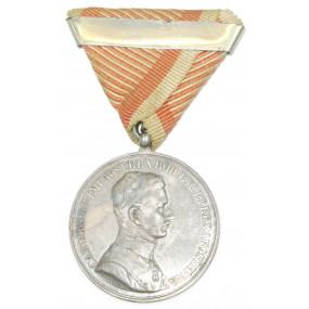 Kaiser Karl , Silberne Tapferkeitsmedaille 1. Klasse mit Wiederholungsspange