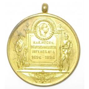 Jubiläumsmedaille des k. u. k. IR Hoch- und Deutschmeister Nr. 4 1896