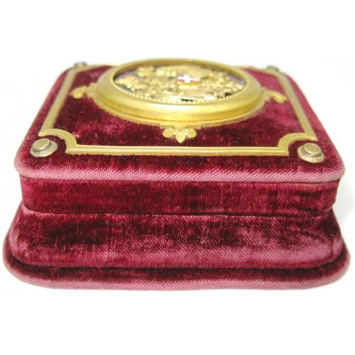 Stadt Wien Original Samtetui für die goldene Salvatormedaille