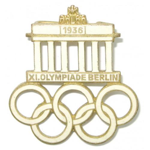 XI. Olympischen Spiele 1936 Berlin - Offizielles Besucherabzeichen