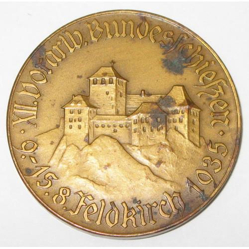 XII. Vorarlberger Bundesschießen 9.- 15. 8. Feldkirch 1935