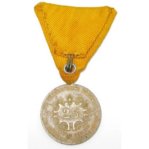 Österreich 1. Republik/Bundesstaat Ehrenmedaille für 25jährige verdienstvolle Tätigkeit im Feuerwehr- und Rettungswesen