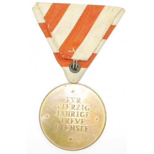 Österreich 1. Republik - Ehrenmedaille für 40 Jahre treue Dienste