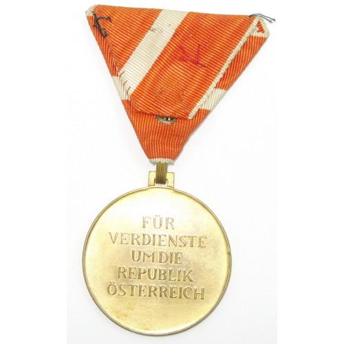 Österreich 1. Republik Medaille für Verdienste um die Republik Österreich