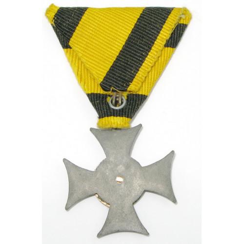 Österreich / K.u.K. Monarchie, Militärdienstzeichen für Unteroffiziere u. Mannschaften für 6 Jahre