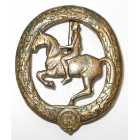 Deutsches Reiterabzeichen in Bronze