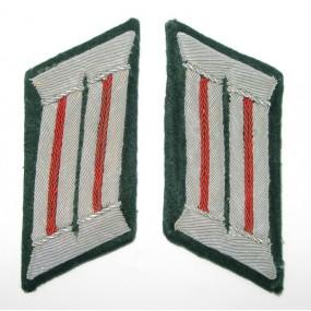 Wehrmacht Heer Paar Kragenspiegel für Artillerie Offiziere