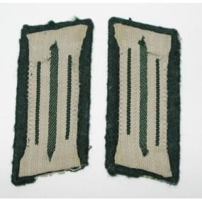 Wehrmacht Heer Paar Kragenspiegel M 36 für Mannschaften und Unteroffiziere