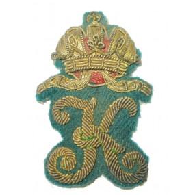 k.k. Landwehr - Gebirgstruppen Kappenemblem für die Offizierskappe