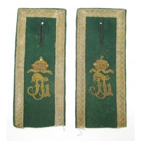 Paar Achselspangen für k. k. Landwehr-Gebirgstruppe Kaiser Franz Josef I.