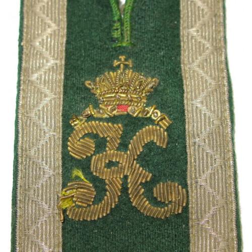 Achselspange für k. k. Landwehr-Gebirgstruppe Kaiser Karl