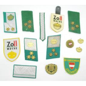Konvolut Uniformzubehör der österreichischen Zollwache
