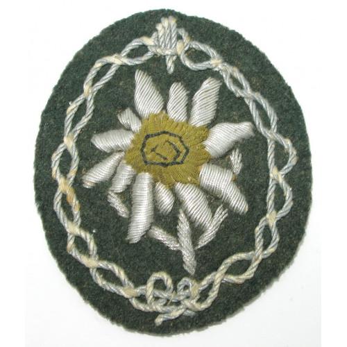 Wehrmacht Heer Ärmelabzeichen für Gebirgsjäger Offiziere