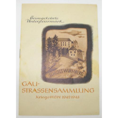 Kriegs WHW Gaustraßensammlung 1942 - 1943 Heimgekehrte Untersteiermark